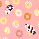 Panda Loves Sweets'-  color E(coral pink)